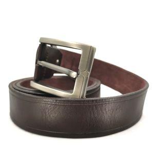 Zanzara 40 Dark Brown Leather Heavy Duty Belt